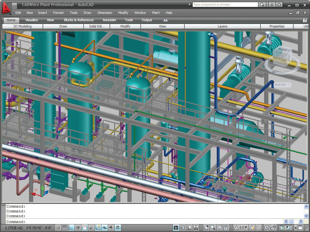 2D/3D CAD software for piping systems design
